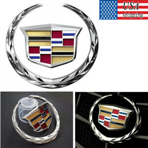 For Cadillac Front Grille 6 Emblem Hood Badge Logo Chrome Color Symbol Ornament