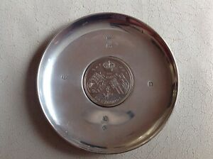 David Mills Hm Solid Silver Armada Dish 2000 Inset Five Pound Coin 1997