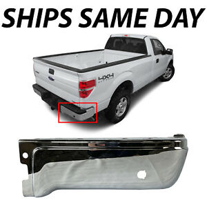 New Chrome Rear Right Rh Bumper Face Bar For 2009 2014 Ford F 150 W Park Assist