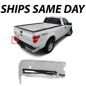 New Chrome Rear Drivers Left Lh Bumper End Cap For 2009 2014 Ford F 150 W Park