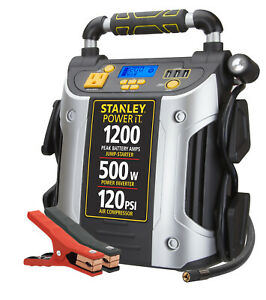 Stanley 1200a Peak Jump Starter Power Station W 500 Watt Inverter J5cpd