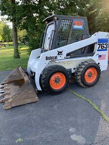 Bobcat 763 Skid Steer Enclosed Cab With Heat Super Low Hours