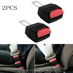 2x Car Safety Seat Belt Alarm Stopper Buckles Extension Extender Clip Universal