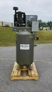 Used 5 Hp Imc Belaire Piston Compressor Two Stage 80 Gallon 230 Volt 1 Phase