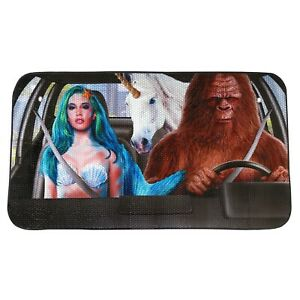 Mythical Creatures Car Sun Shade Mermaid Bigfoot Unicorn Windshield Cover