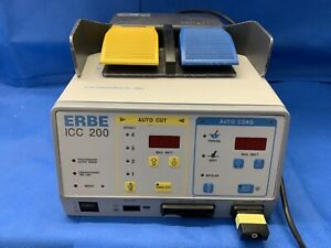 Erbe Icc 200 Esu Electrosurgical Unit With Foot Pedal