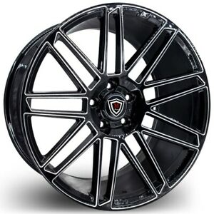 Set Of 4 Marquee Wheels M3767 19x9 5 5x120 38 Milled Face Black