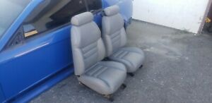 Mustang Gray Leather Seats From 8k Mile 1997 Saleen Cobra Gt Foxbody Steeda