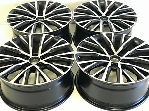 18 Inch Wheels Rims Fit Vw Jetta Golt Passat Gti Gli Black Machined 5x112 57cb