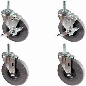 Casterhq Set Of 4 Stem Casters With 5 16 X 1 Long Threaded Stem 2 Swivels