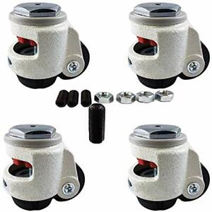 Casterhq Wheel Master Retractable Leveling Machine Stem Casters 4 Pack 2 4