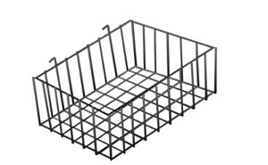 Black Mini Wire Basket For Slatwall Or Pegboard 12 X 8 X 4 Inch Set Of 5