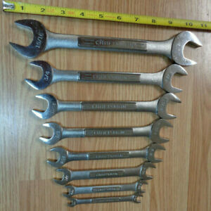 Made In Usa Craftsman 8pc Double Open End Wrench Set Sae Standard Inch New
