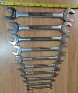 Made In Usa Craftsman 10pc Metric Double Open End Wrench Set 7mm