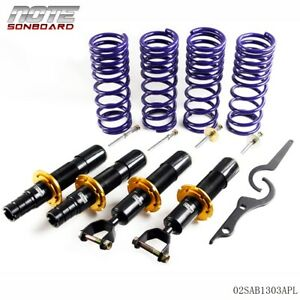 Us For Honda Civic Ek Suspensions Coilovers Adjustable Kit 1996 2000 97 98 99