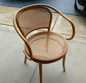 Vintage 1960s Era Bentwood Caned Chairs Six 6 Total Made In Czechoslavakia
