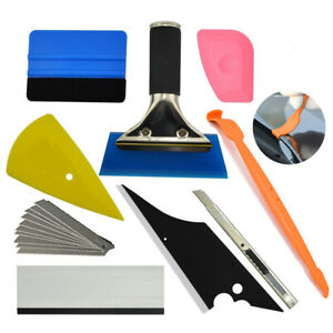 Pro Window Tint Tool Kit Felt Rubber Squeegee Wrap Micro Scraper Car Sticker Us