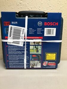 Bosch Gll 2 20 S 65 360 Degree Line And Cross Laser Level New