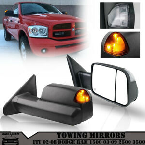 Tow Mirrors Power Heated Turn Signal For Fit 2002 2008 Dodge Ram 1500 2500 3500