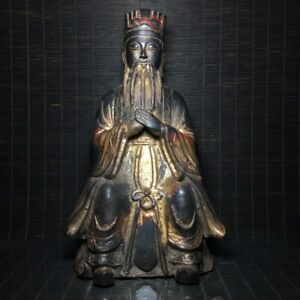 9 Chinese Antique Bronze Ming Yongle Mark Taoist School Character Statue