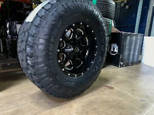 17x9 D534 Fuel Boost 35 Toyo At Wheel Tire Package 8x170 Ford Super Duty F250