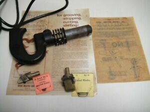 Vintage Ideal Heated Knife No 125 With Attachments