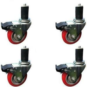 Casterhq 5 Inch Caster Wheel Set For Commercial Kitchen Prep Tables Total Lock
