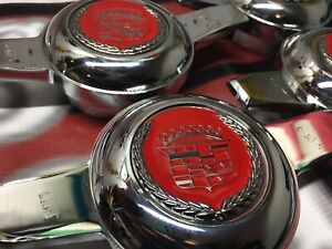 Lowrider Hydraulics Wire Wheel Knock Offs 4 4 Cadillac Red Chrome Chips
