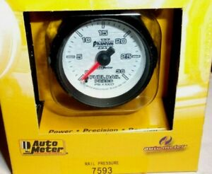 Autometer Phantom Ii 2 1 16 Electric Fuel Rail Pressure Gauge Kit 0 30000 Psi