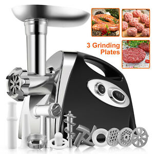 Electric Meat Grinder Sausage Stuffer Commercial Stainless Steel W accessories