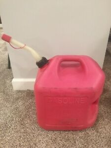 Midwest 5 Gallon Gas Can Vented Nozzle Spout Red Pre Ban