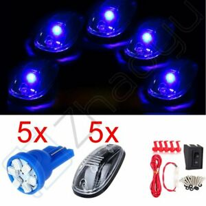 5x Roof Top 12v Led Light Car Cab Marker Running Lamp Clear Harness Accessories