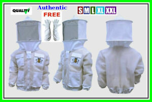 Bee Sting Safety 4 Layer Uv Beekeeping Jacket Round Veil 4xl Gloves