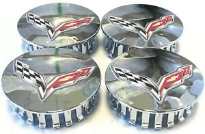 05 29 Center Caps C6 C7 Corvette Chrome Set Of 4 9597834 Zr1 Zo6 Grand Sport Ray