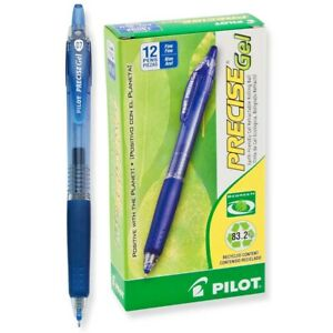 15002 Pilot Begreen Precise Gel Rt Rollerball Pen Blue 0 7mm Fine Pack Of 36