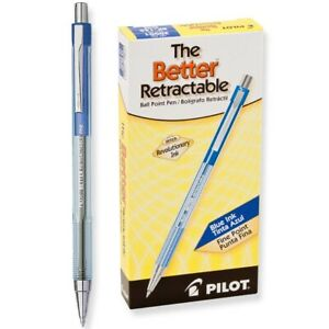 30001 Pilot The Better Retractable Ballpoint Pen Fine Point Blue Pack Of 24