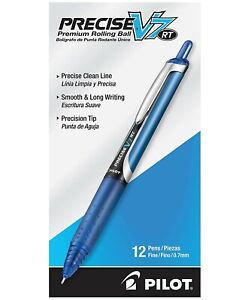 26068 Pilot Precise V7 Rt Rollingball Pen Fine 0 7mm Blue Pack Of 24