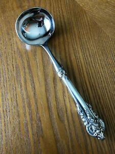 Huge 9 Wallace Grande Baroque Gravy Ladle Serving Spoon Sterling Grand Silver