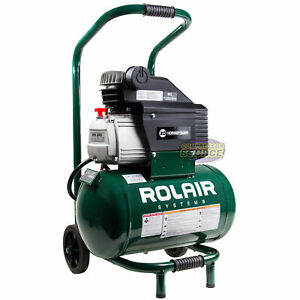 Rolair Portable Construction Duty Wheeled Air Compressor Model Fc2002hbp6 New