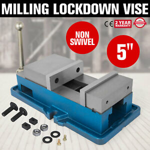 5 Non swivel Milling Lock Vise Bench Clamp Clamping Vise 125mm Width Cnc 24kn