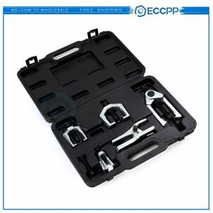 5pcs Front End Service Ball Joint Separator Pitman Arm Tie Rod Puller Tool Kit