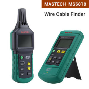 Ms6818 Cable Locator Tracker Telephone Metal Pipe 12v 400v Ac dc Tester Detector