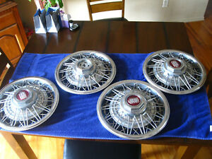 1983 87 Set Of 4 Ford Ltd Crown Victoria Vic 14 Wire Spoke Hubcap Wheel Cover