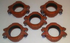 Qty 5 Gruvlok anvil 2 1 2 Fig 7000 Grooved Pipe Couplings free Shipping