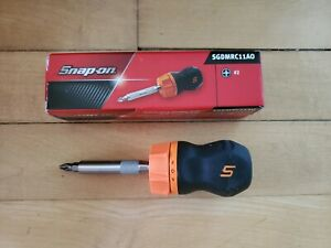 new Snap On Sgdmrc11ao Ratcheting Soft Grip Orange Screwdriver Free Shipping