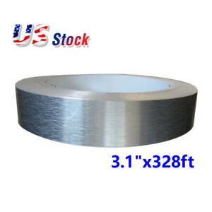 Us Stock Thickened 80mm 3 1 X 100m 328ft Roll Aluminum Tape brushed