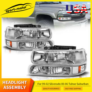 For 1999 2002 Chevy Silverado 2000 2006 Suburban Tahoe Headlight bumper Signal