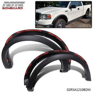 For 2004 2008 Ford F150 Matte Black Factory Style Fender Flares Wheel Protector