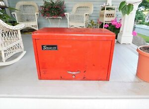 Vintage Snap On Tool Box Chest Red 9 Drawer Kra With Key