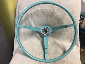 1965 1966 Ford Mustang Steering Wheel Turquoise